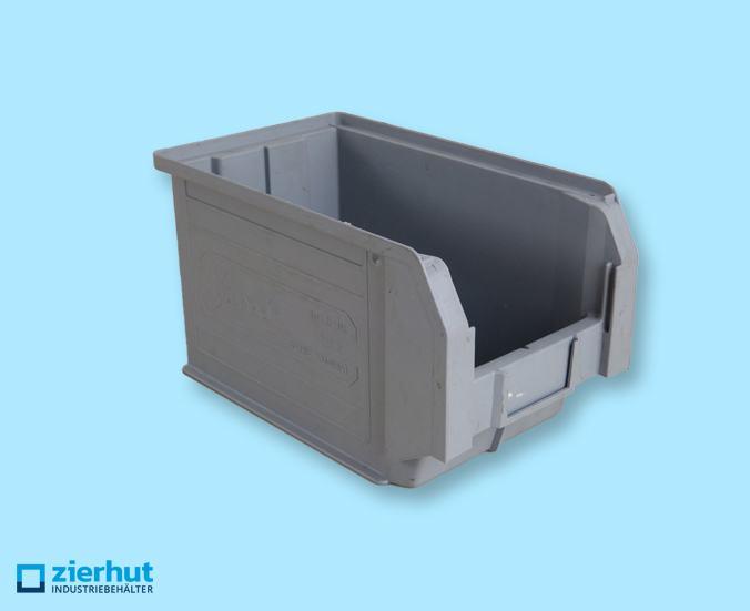 Sichtlagerkisten, Gr. 3, Kunststoff, grau