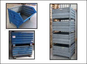 Stahlbehälter - starr - nicht faltbar
