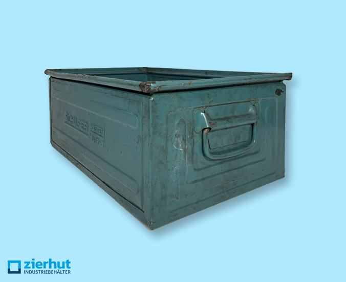 Stapelkisten, Typ: 14/6-A, 525x320x200mm, metall-lackiert, gebraucht