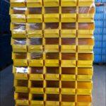 Lager-fix-14/7-3-PE-Kunststoff-Schäfer-Kisten-Stapeltransport-Kästen-Boxen-gelb-gebraucht-Foto4