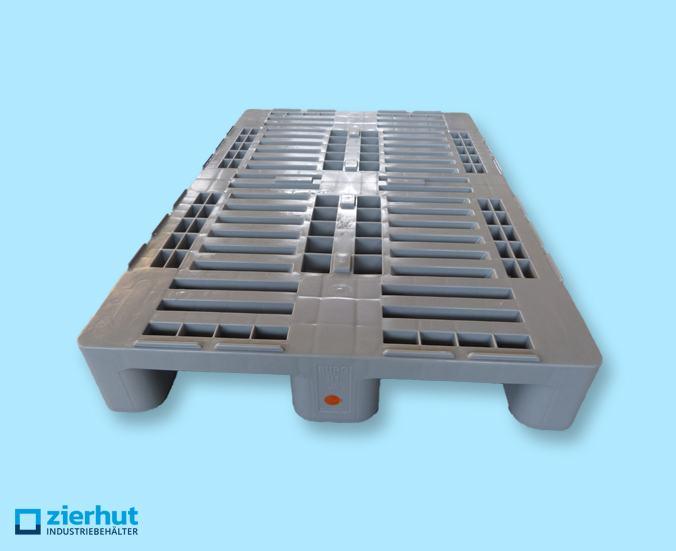 H1-Kunststoffpalette, Hygienepalette mit 3 Kufen, GS-Siegel, 1.500 kg Belastung