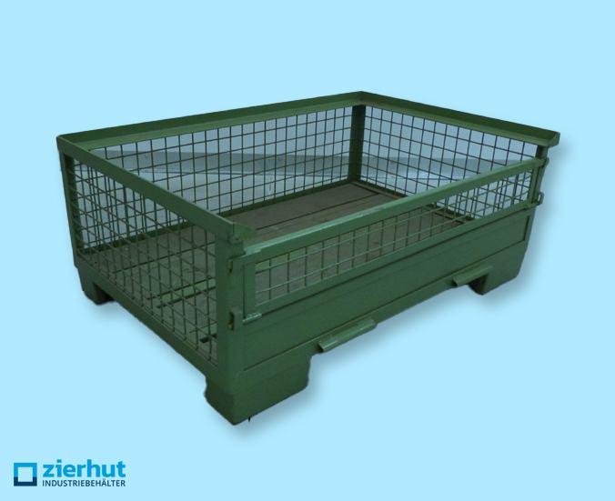 Gitterbox, halbhoch, grün
