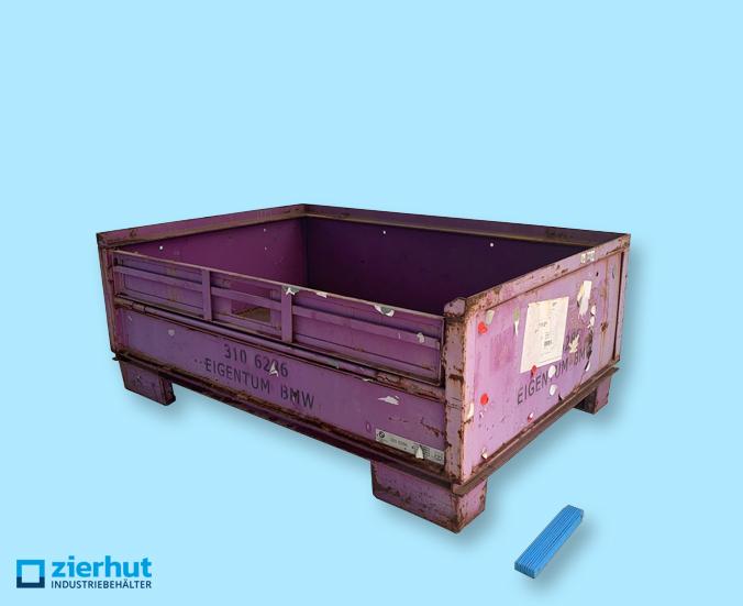 Halbhohe Gitterbox, Stapelbox mit Vollwandwänden, BMW 3106286