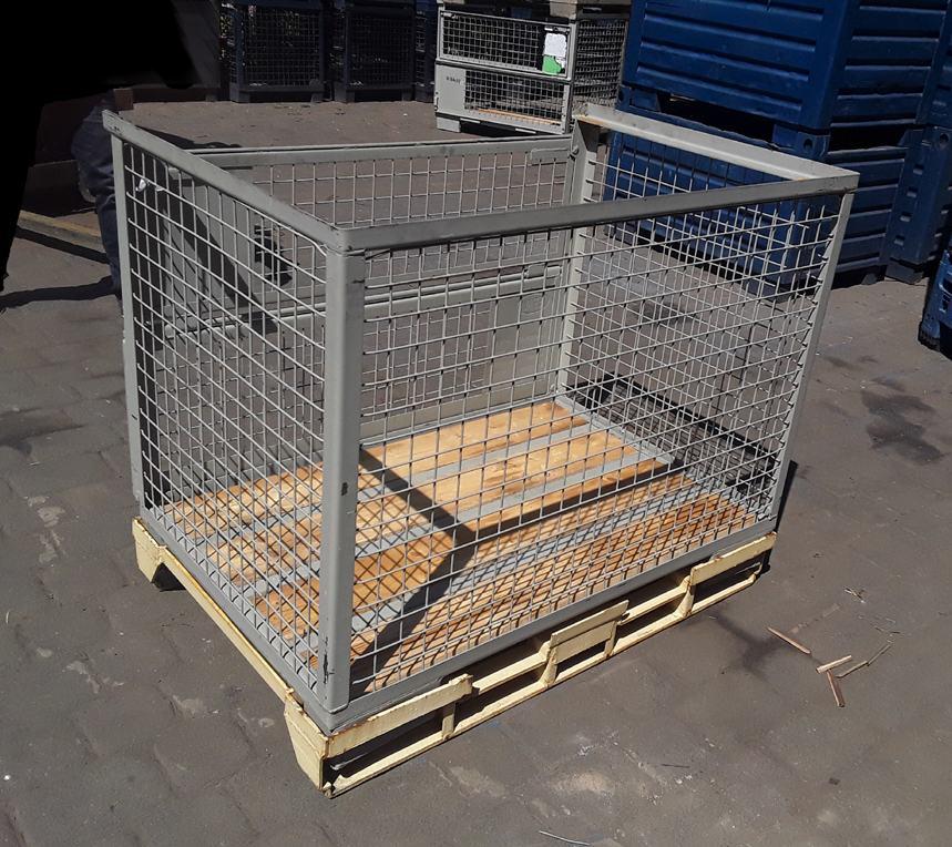 Stahlpalette für Eurogitterbox / Regaltauglich