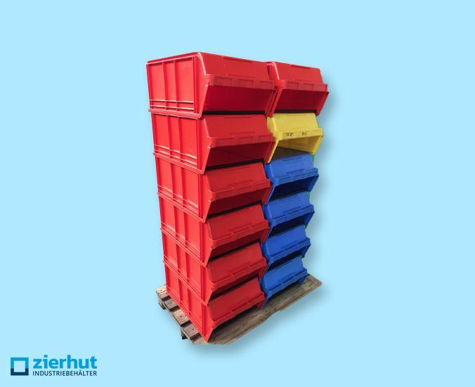 Posten: 12x 14/7-1 PE, Stapelboxen, Sichtlagerboxen
