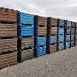 massiver Stapelbehälter aus Stahl - gebraucht - 1000x800x600mm - öldicht verschweißt -