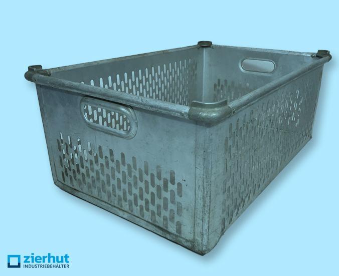 Zarges Stapelbehälter aus Aluminium, geschlitzt