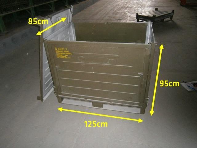 Transport- und Stapelbehälter, klappbar, lackiert