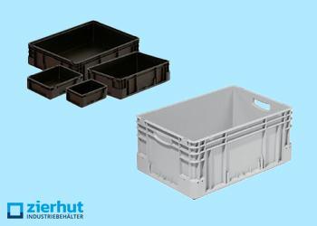 Stapelbehälter aus Kunststoff / ESD Euronormbehälter