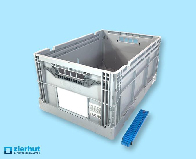 Faltbox Clever-Retail-Box  Kunststoff grau Sandwichboden mit 50 kg Traglast