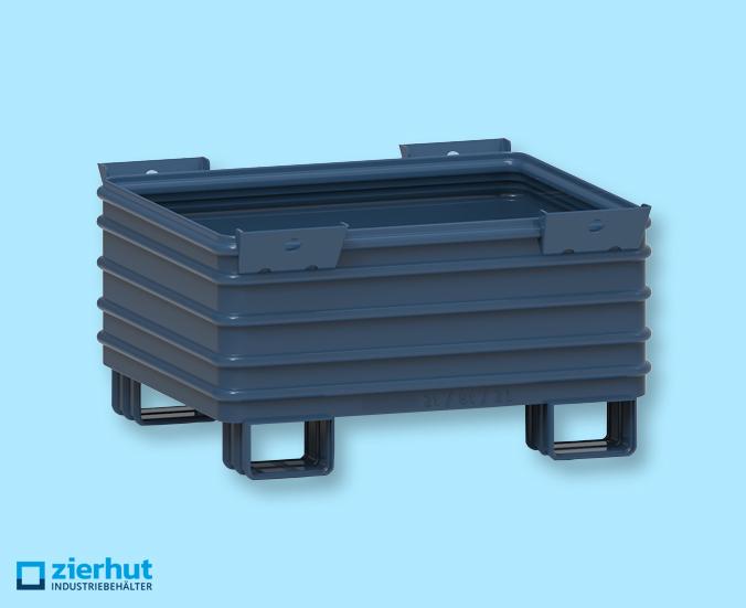 Stahlbehälter massiv Typ: 12/65 lackiert 1200x1000x650 mm