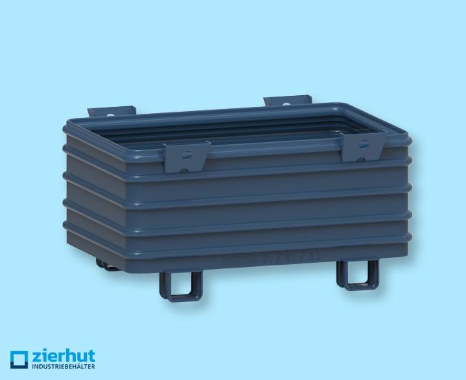Stahlbehälter massiv Typ: 12/65 lackiert 1200x800x620 mm