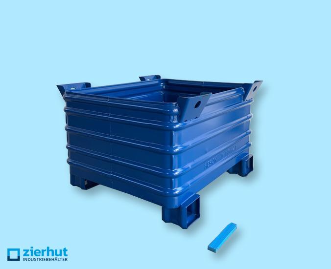 Stahlbehälter massiv Heson Typ: 12/65 lackiert 1000x800x620 mm