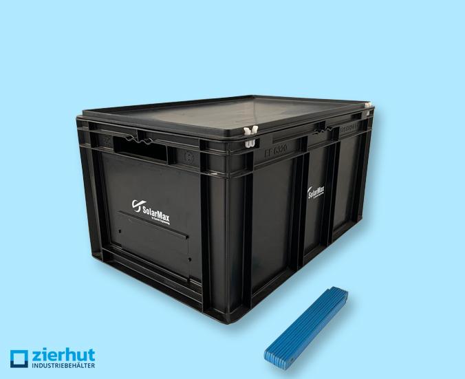 Euronormbehälter ESD, Typ: EF-6320, 600x400x320 mm + Scharnierdeckel
