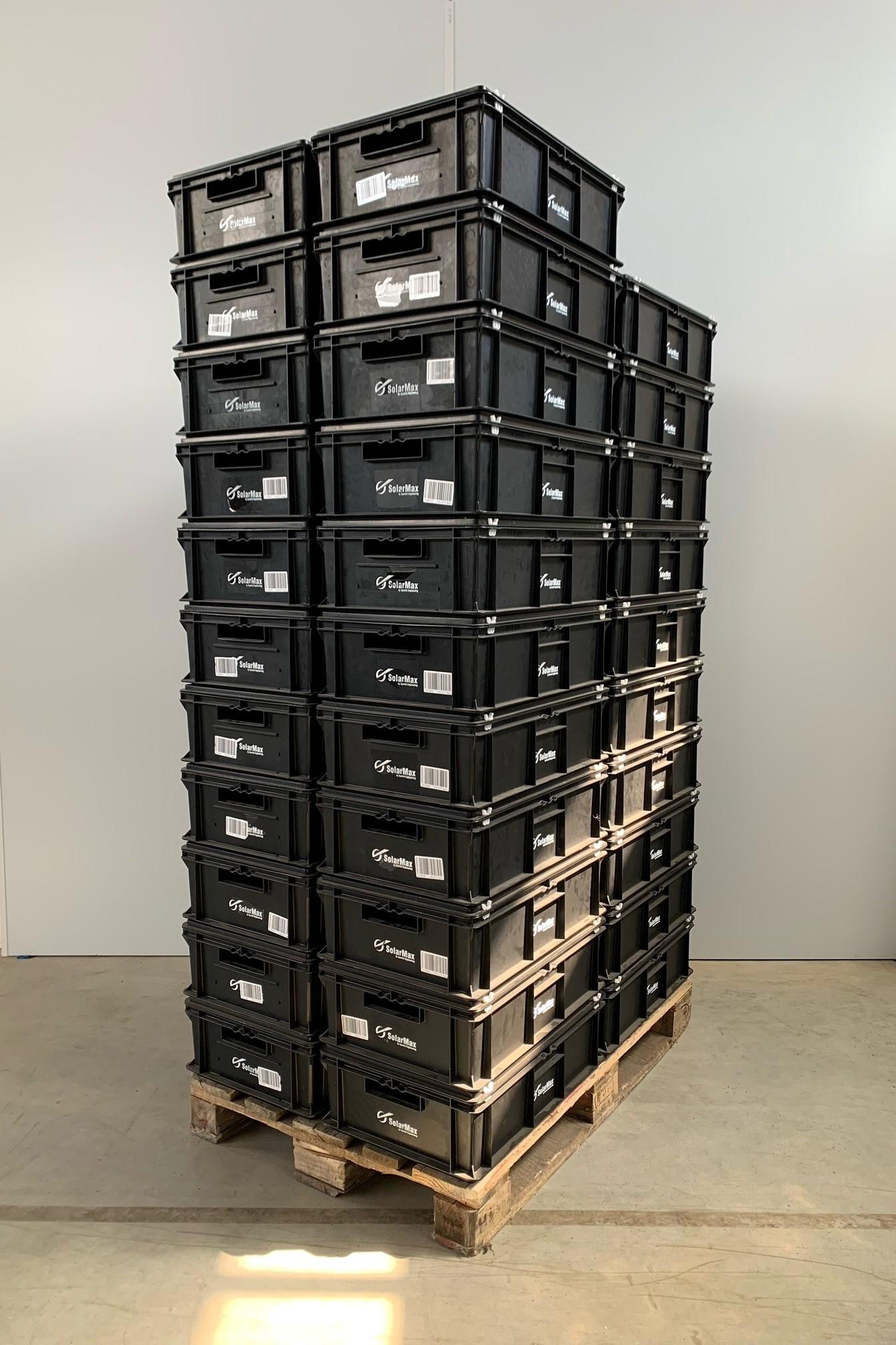 Posten: 42 Stück Eurofix-Boxen, SSI-Schäfer, EF-6180 PPL ESD, 600x400x180 mm + Scharnierdeckel