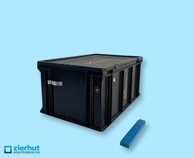 Euronormbehälter, Blackline ESD PPL, 600x400x278 mm